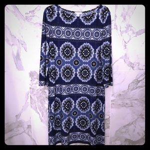 London Times Long Sleeve Sheath Dress